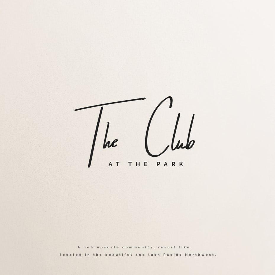 """элегантный и минималистичный логотип клуба, состоящий из написанного вручную надписи """"width ="""" 960 """"height ="""" 960"""