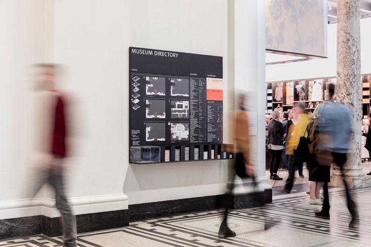 """v & a-wall-display"""" width = """"750"""" height = """"500"""" />    <figcaption> Предоставлено Сэмом Бушем и Дн и Ко </figcaption></figure> <p> В экспозиции представлено более 60 000 экспонатов. В целях «поощрения исследования» номера этажей были обновлены, чтобы более отдаленные галереи казались более «доступными». Например, в новом каталоге раздел керамики переместился с уровня 6 на уровень 4. </p> <p> Редизайн карты также играет роль в этом, так как страницы были добавлены в буклет, чтобы «выделить размеры коллекции V & A, которая будет меняться каждый раз, когда карта перепечатывается, чтобы побуждать посетителей перемещаться», говорит Эли. . </p> <p> «Мы стремились создать систему, которая помогала бы посетителям уверенно исследовать музей и ориентироваться в нем, а также побуждать их идти дальше, особенно на верхних этажах, где размещена большая часть обширной постоянной коллекции V & A». </p> <p> Недавно в музее была развернута новая система наведения; современные экспозиции включают ретроспективу Кристиана Диора и выставку об устойчивом питании. </p> <footer> </footer> </p></div> </pre> <p>[ad_2]</p> <span class="""