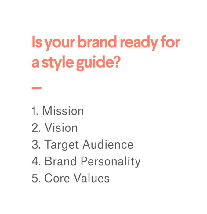 шаги по подготовке бренда к руководству по стилю