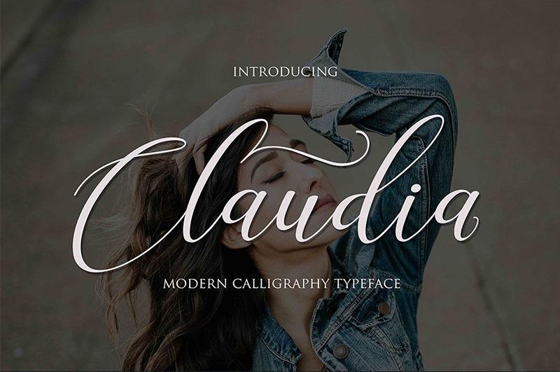 Claudia Script Font
