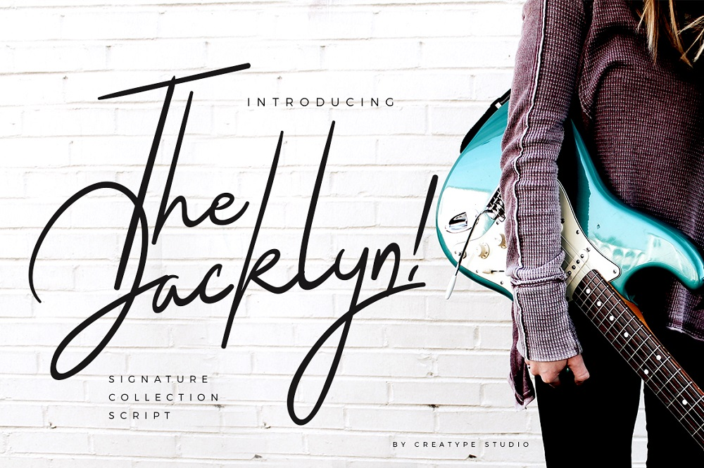The Jacklyn Signature Font