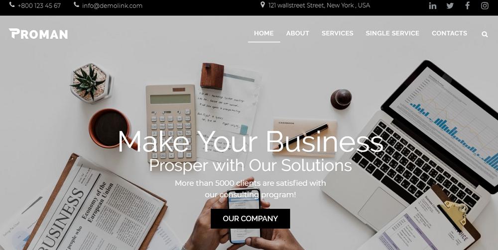 Proman - Business Multipurpose Modern Elementor WordPress Theme