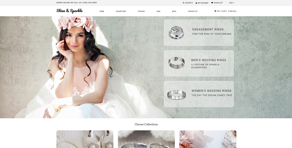 Shine & Sparkle - Jewelry Multipage Stylish Shopify Theme