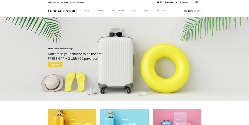 Luggage store - Travel Store eCommerce Modern Shopify Theme