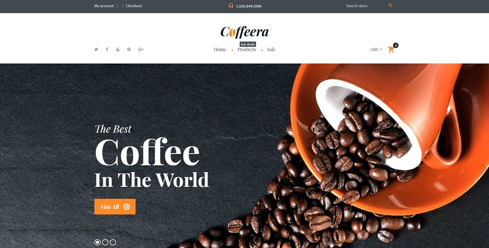Coffeera - Coffee Shop Ready-to-Use Clean Shopify Theme