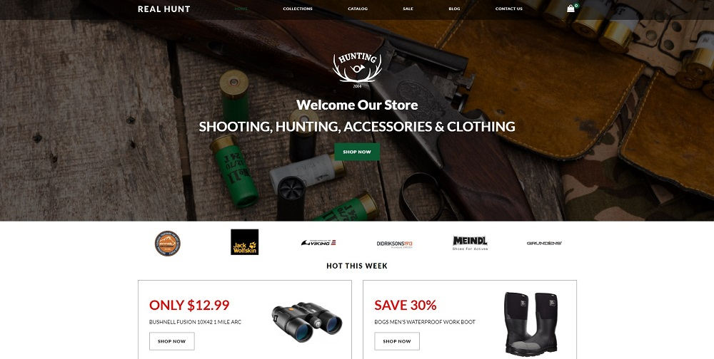 Real Hunt - Hunting Clean Shopify Theme