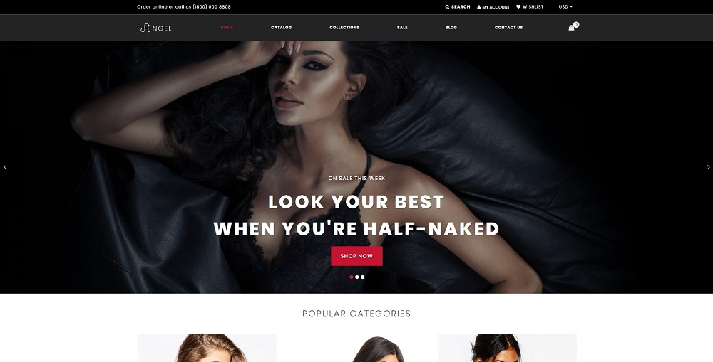 Angel - Lingerie Online Store Clean Shopify Theme