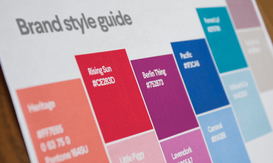 пример руководящих принципов марки для цвета