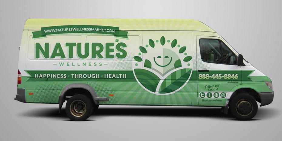 """Обтекатель транспортного средства, показывающий солнечный свет с улыбающимся лицом """"width ="""" 1825 """"height ="""" 912 """"/>    <figcaption> Зеленый чувствует себя свежим, как обычно хочет почувствовать бренд здоровой пищи. дизайн Priyo. </figcaption></figure> <p> Зеленый напоминает многим людям логотип переработки, что делает его идеальным для любого бренда, который рекламирует себя как экологически чистый или органический. Это также отличный выбор для спа, потому что он подчеркивает успокаивающий, обновляющий опыт, который клиент ожидает от дня в спа-центре. </p> <h3><span id="""