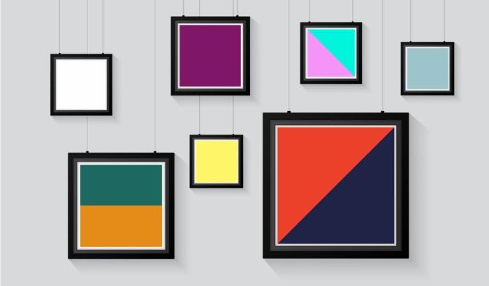 """рамы для картин, заполненные разными цветами """"width ="""" 700 """"height ="""" 410"""