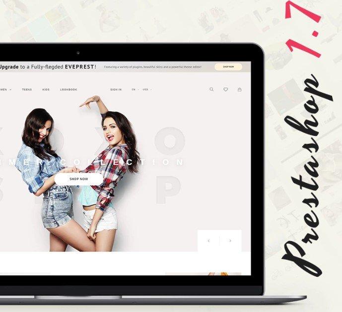 Eveprest — Бесплатная PrestaShop тема интернет-магазина на Bootstrap