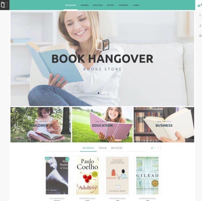 Бесплатная PrestaShop тема для книжного магазина