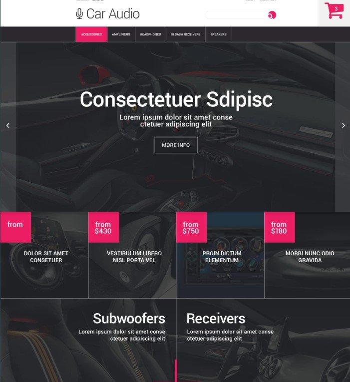 Бесплатная PrestaShop тема магазина автозапчастей