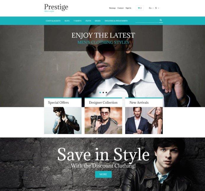 Бесплатная PrestaShop тема модного магазина