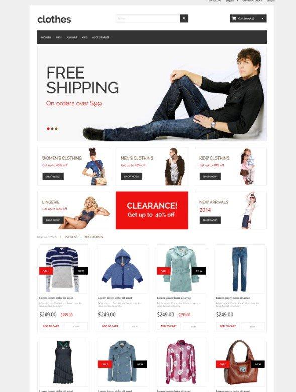 Бесплатная PrestaShop 1.6 тема интернет-магазина