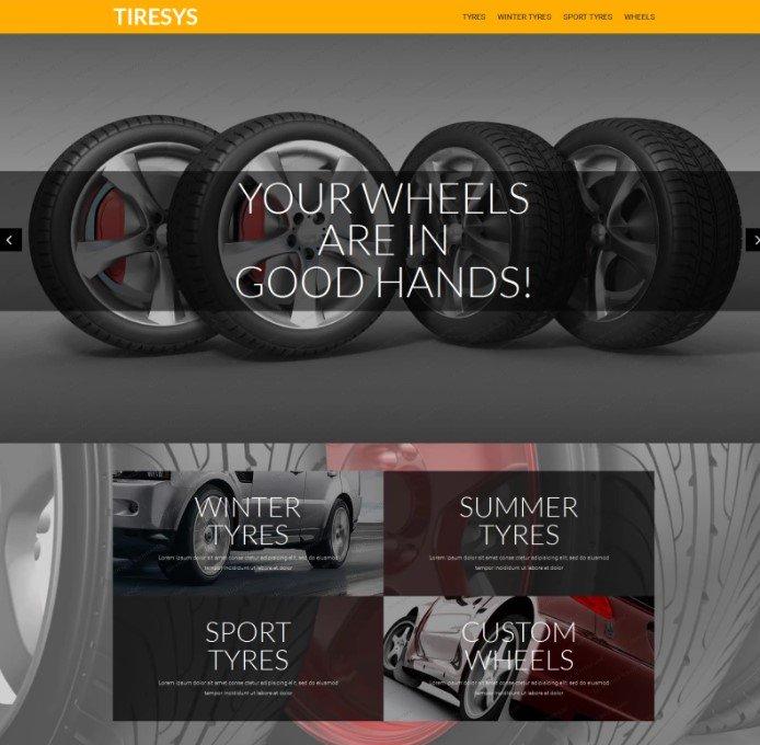 Бесплатная PrestaShop тема магазина по продаже шин и колес
