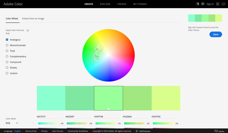 """Цветная страница Adobe """"width ="""" 2610 """"height ="""" 1520 """"/>    <figcaption> Интерактивное и образцовое цветовое вдохновение от Adobe </figcaption></figure> <p> Adobe Color облегчает изучение текущего цвета тренды, разрабатывайте палитры из ваших любимых изображений и сохраняйте ваши любимые цветовые схемы в приложениях Adobe. </p> <p> <strong> Цены: бесплатно   Посетите color.adobe.com </strong> </p> <h4><span id="""