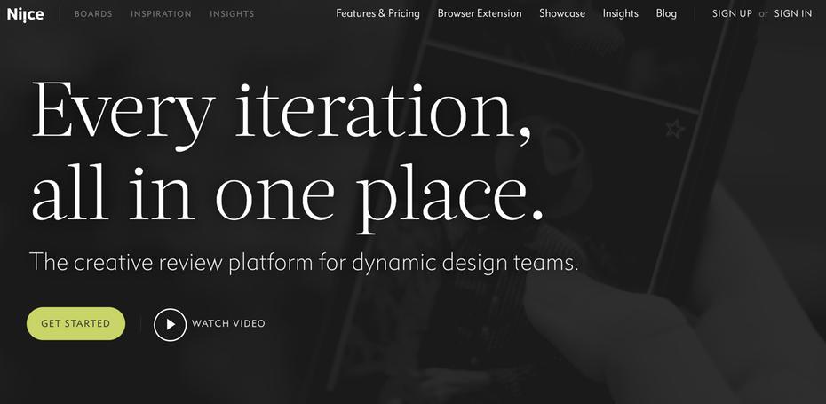 """Домашняя страница Niice """"width ="""" 2610 """"height ="""" 1278 """"/>    <figcaption> Niice — это вдохновляющая платформа для команд дизайнеров </figcaption></figure> <p> Подумайте об этом, как Pinterest для дизайнеров. Niice Это простая в использовании платформа, предназначенная для того, чтобы вдохновлять команды дизайнеров. Используйте этот инструмент для демонстрации коллективных идей и облегчения сбора отзывов и отзывов. </p> <p> <strong> Цены: Бесплатная базовая учетная запись, Неограниченные профессиональные учетные записи начинаются с $ 99 / месяц   Посетите niice.co </strong> </p> <h2><span id="""