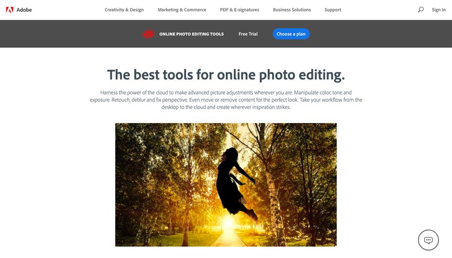 """Домашняя страница инструментов редактирования фотографий в Интернете Adobe """"width ="""" 2612 """"height ="""" 1492 """"/>    <figcaption> Adobe предлагает различные варианты онлайн-редактирования изображений </figcaption></figure> <p> Вероятно, наиболее Adobe Photoshop, известный инструмент для редактирования изображений, стал синонимом графического дизайна, и теперь вы можете использовать его мощные облачные инструменты обработки изображений прямо в своем браузере или смартфоне, где бы вы ни находились и когда бы ни вдохновляло. </p> <p> <strong> Цены: от 9,99 долл. США в месяц   Посетите adobe.com </strong> </p> <h4><span id="""