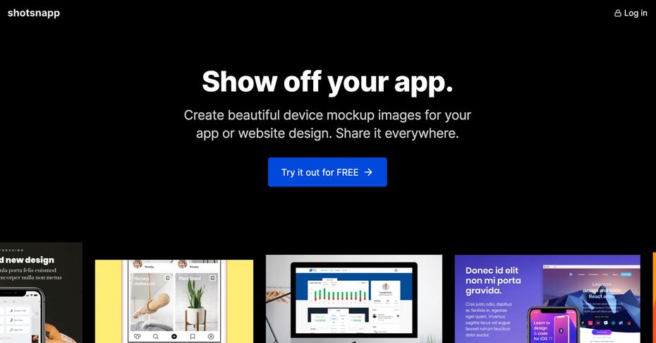 """Домашняя страница Shotsnapp """"width ="""" 2604 """"height ="""" 1362 """"/>    <figcaption> Место для создания и обмена макетными изображениями </figcaption></figure> <p> Попробуйте это веб-приложение для макетирования изображений для приложения или дизайна сайта. Shotsnapp невероятно прост и понятен в использовании для всех ваших цифровых проектов. </p> <p> <strong> Цены: бесплатная базовая функциональность, Pro начинаются с $ 36 / год   Посетите shotsnapp.com </strong> </p> <h3><span id="""
