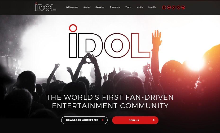 развлекательный веб-дизайн