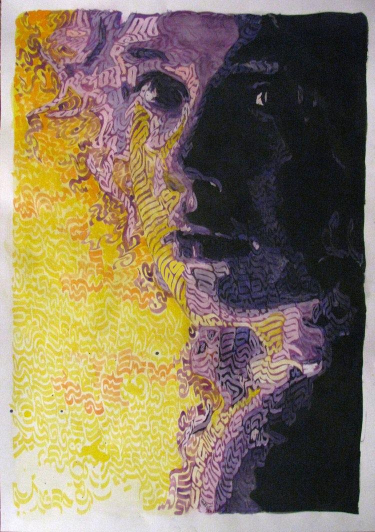 """экспрессионистская иллюстрация для Artlounge, Австралийская онлайн-галерея искусств """"width ="""" 750 """"height ="""" 1064"""