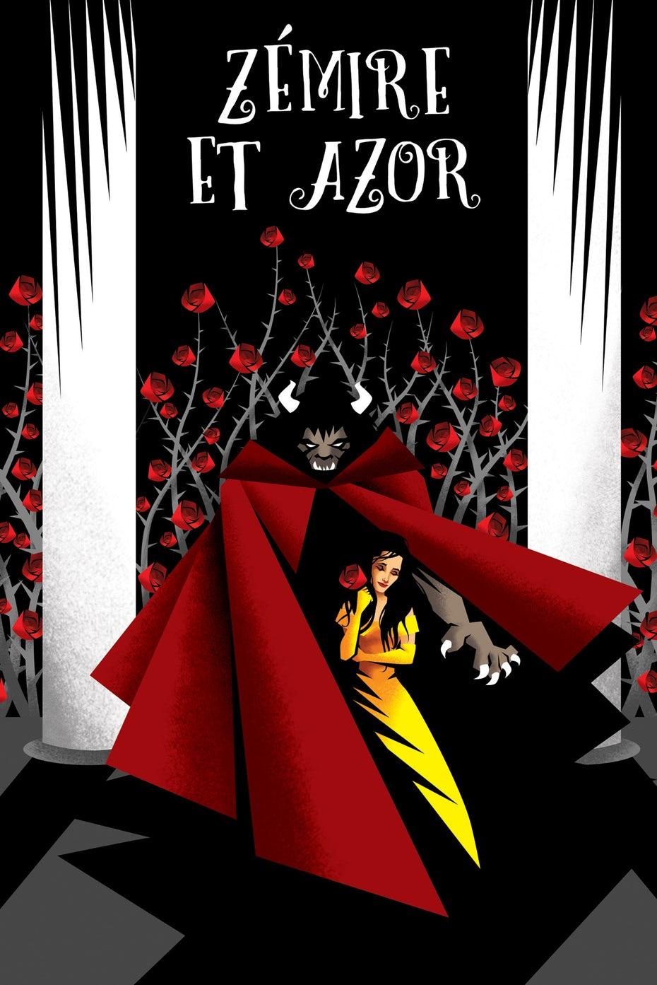 Плакат-экспрессионист для Opera