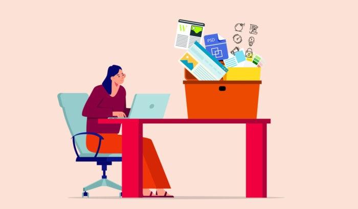 """Иллюстрация женщины, работающей на ноутбуке с коробкой инструментов на столе """"width ="""" 700 """"height ="""" 410 """"/>    <figcaption> Наличие всех необходимых инструментов под рукой оставляет время для улучшения дизайна. Иллюстрация OrangeCrush. </figcaption></figure> <p> Множество ресурсов и инструментов графического дизайна, которые могут помочь вам быть еще <em> более креативными </em>у вас под рукой. Ищете векторы? Или изображения? Как насчет модных, уникальных шрифтов ? Или, может быть, немного вдохновения? Все это в пределах досягаемости, особенно если вы знаете, куда идти. </p> <p> Сэкономьте немного времени и ненужных веб-блужданий с этим руководством, посвященным лучшим ресурсам графического дизайна и инструментам для дизайнеров и энтузиастов. Каким бы ни был ваш проект, вы найдете необходимые ресурсы. </p> <div id="""