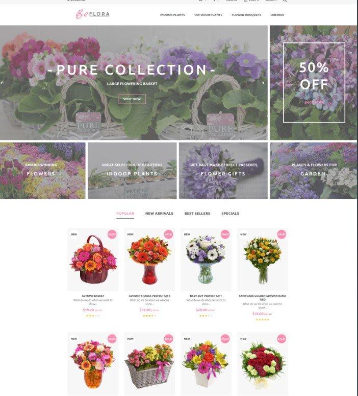 BeFlora — Бесплатная цветочная PrestaShop тема
