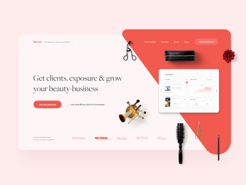 Beauty Business Customer Support—Landing Page