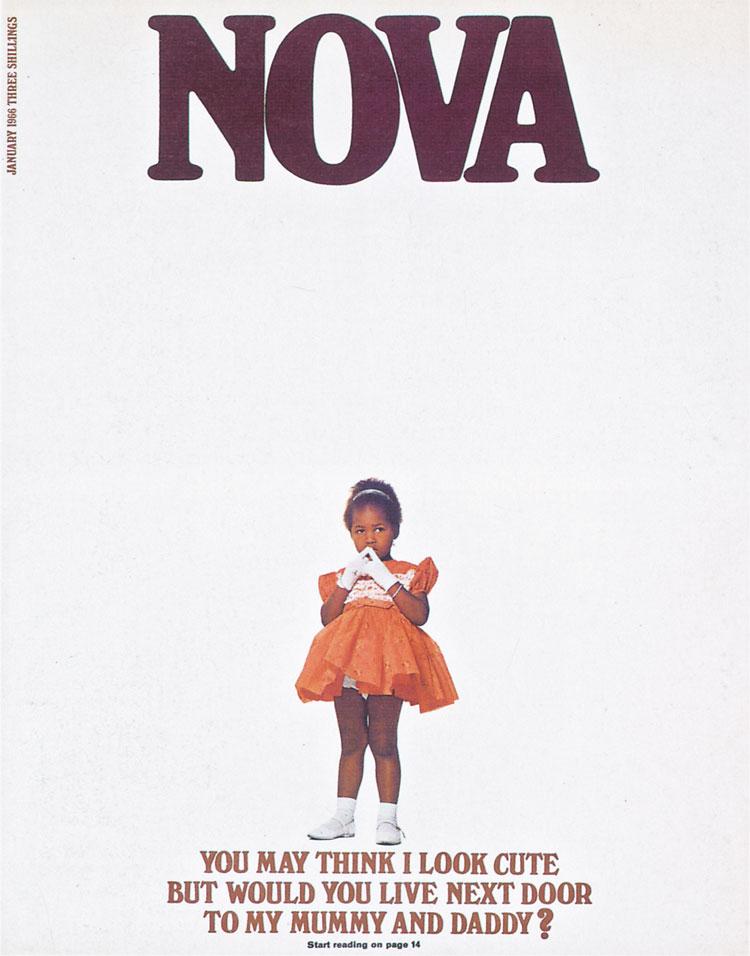 """nova-cover """"width ="""" 750 """"height ="""" 956 """"/>    <figcaption> Обложка 1966 года </figcaption></figure> <p> <strong> DW: Некоторые из этих подписей и обложек выделены серьезные проблемы. Один изображает молодую черную девушку с вопросом: «Вы можете подумать, что я выгляжу мило, но вы бы жили по соседству с моими мамой и папой?» </strong> </p> <p> DH: Интересно, что в то время редактор, Деннис Хакетт, был бывшим рекламщиком. Он был хорош в написании тех ярких строк, с которыми борется большинство журналистов. Юмор, хорошие новости, плохие новости, смерть, жизнь, что угодно — мы всегда хотели хорошего баланса — но не может быть гибели и катастрофы на каждом распространении. И иногда самая сильная редакционная идея не была лучшим визуальным прикрытием для захвата читателей. </p> <p> Я прошел через период, когда проще всего было запускать модные обложки, потому что вам не нужно было над этим усердно работать. Но мне удалось убедить команду, что мы не должны идти с самой тяжелой историей, но той, которая сделала лучший кавер. Иногда вы можете получить действительно хорошее прикрытие из истории, но в ней всего две страницы. </p> <p> <strong> DW: Другие обложки довольно провокационные — это когда-нибудь вызывало какие-либо проблемы? </strong> </p> <p> Д.Х .: Проблема, которая у нас всегда была, заключалась в том, что у нас было консервативное руководство, и они так или иначе никогда не понимали журнал Nova. Была одна особая история под названием «Как раздеться перед своим мужем», которая была способом получить хорошее нижнее белье в журнале — хотя идея пришла от женщины, так что это была не просто моя идея, чтобы поместить эротические картинки в журналы. Но это была серьезная история, и было очевидно, что ее можно было покрыть, но вы можете себе представить, когда она поднимается на редакционном собрании, что руководство всегда видит худшую сторону этой истории. </p> <p> <strong> DW: Эти обложки хорошо продавались? </strong> </p> <p> DH: Я не думаю, что мы когда-либо продавал"""