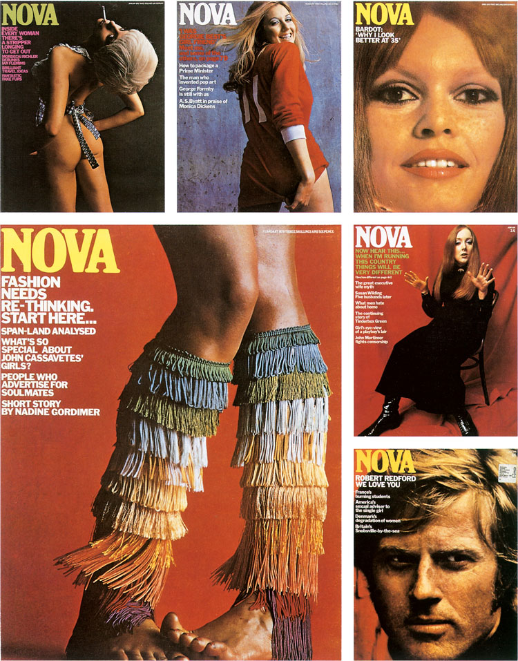 """fringe-legs """"width ="""" 750 """"height ="""" 957 """"/>    <figcaption> Коллекция обложек Nova </figcaption></figure> <p> <strong> DW: Похоже, у вас был бесплатная платформа для исследования этого творчества. </strong> </p> <p> Д.Х .: Одна из приятных вещей в том, что мы вышли за рамки обычного женского журнала, означали, что у нас была свобода экспериментировать. Мы были неправы столько раз, сколько были правы. Но если вы не рискуете, вы не идете дальше. Вы в конечном итоге, как собственная женщина. </p> <p> <strong> DW: Графический дизайн является ключевым для Nova. Какую роль это сыграло в оформлении журнала? </strong> </p> <p> Д.Х .: Мы всегда работали с хорошим балансом между изображениями, особенно иллюстрацией и фотографией. Позже я узнал, что иллюстрация и фотография никогда не были популярны вместе, но в тот период оба были в моде, и было много хороших фотографов и иллюстраторов. С некоторыми историями из журналов вы всегда возвращаетесь к тому, что меняется, как вы это иллюстрируете. </p> <p> Основная предпосылка была: если вы не можете сфотографировать это, вы рисуете это. Но некоторые вещи, которые вы делали, фотографов раздражали. Однажды Селестино Валенти сделал иллюстрацию нижнего белья модели в нижнем белье на столе с собаками. Наш фотограф Ханс Фейрер сказал: «Почему вы дали это иллюстратору? Я мог бы сделать это ». И он мог бы сделать это, но он не смог бы все сфокусировать, и все должно было быть очень четким. Это идея, что не все нужно фотографировать. Вот почему Роджер Лоу стал очень важным для меня; брак фотографии, иллюстрации, изготовления моделей и сатиры. </p> <p> <strong> DW: Есть ли какие-нибудь обложки, которыми вы особенно гордитесь? </strong> </p> <p> DH: Покрытие с ногами с бахромой было одним из моих любимых, потому что это было не лицо, хотя оно не слишком хорошо сочеталось с людьми, находящимися у власти. Это было очень красиво, и оно действительно выделялось на книжном стуле. </p> <p> Мне всегда нравилось, как раздеваться перед вашим мужем. """