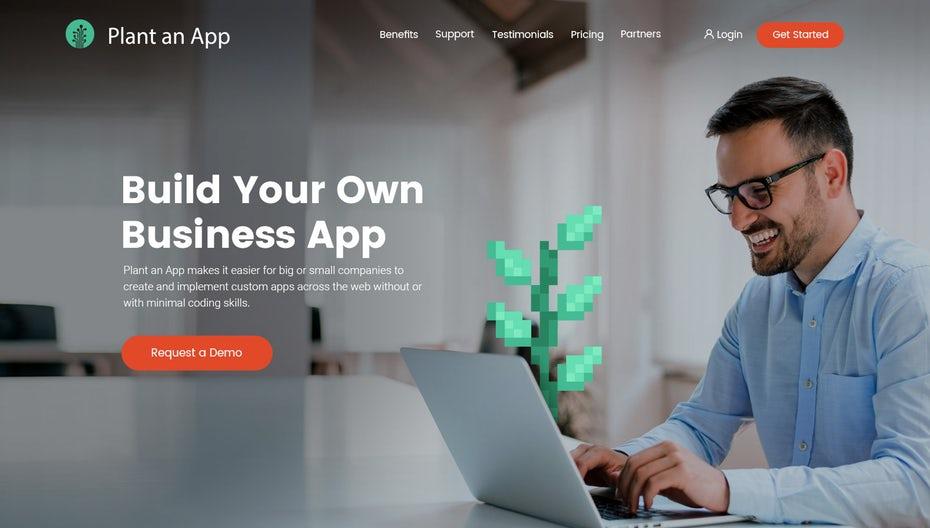 приложение для целевой страницы веб-сайта