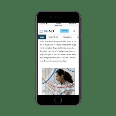 Навигация по хлебным крошкам WebMD для тегов привязки