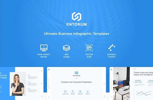Entorum — PowerPoint шаблон бизнес-презентации с инфографики