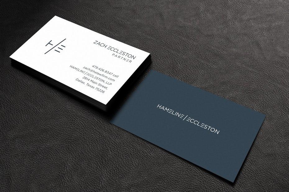Визитная карточка Hameline и Eccleston