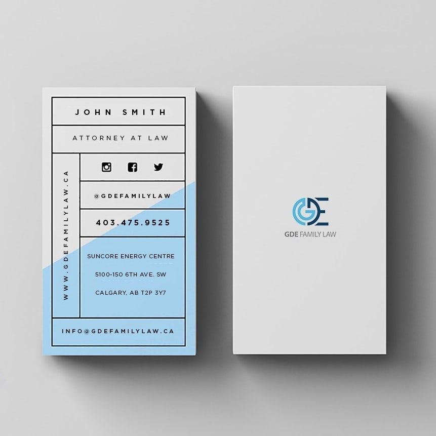 сетка бело-синяя визитная карточка