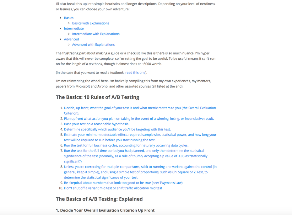 Правила A / B-тестирования