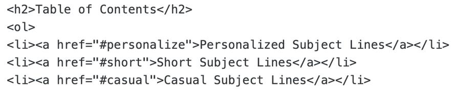 Содержание HTML