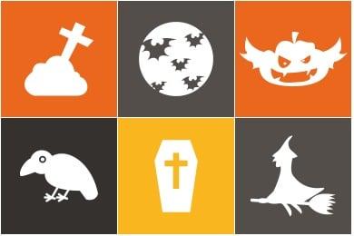 Flat Halloween Icons