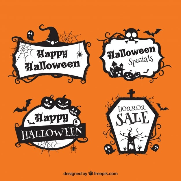 Pack of four Halloween discount stickers