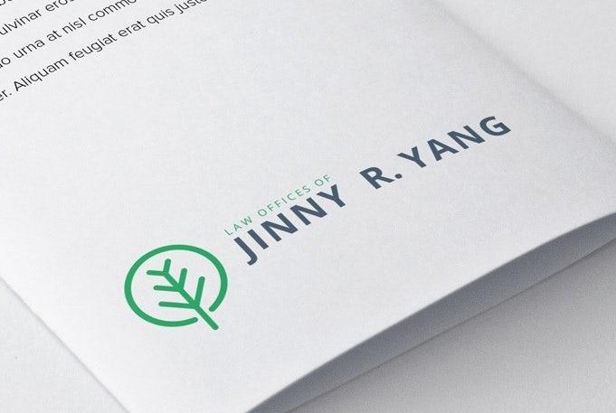 простая визитная карточка дерева Джинни Янга