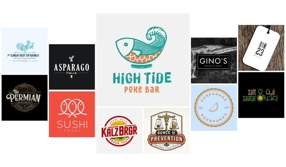 коллекция логотипов ресторанов