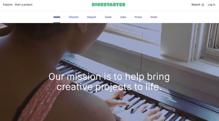 """Снимок экрана с Kickstarter """"width ="""" 1133 """"height ="""" 629 """"/>    <figcaption> Миссии не должны быть длинными и техническими, особенно если они предназначены для потенциальных клиентов. Через Kickstarter </figcaption></figure> <p> Миссия Kickstarter состоит в том, чтобы «помогать воплощать творческие проекты в жизнь». Именно поэтому их бизнес существует. С помощью своей миссии они выражают желание каждый день приходить на работу с полезным отношением к творчеству. и успех. Как (их краудфандинговая модель) приходит позже. </p> <p> Еще одна вещь о миссиях: в отличие от других частей вашего сообщения, ваша миссия часто бывает как внутренней, так и внешней. Вы будете использовать его, чтобы «сплотить войска» своей компании, а также дать миру знать, почему вы здесь. Помните об этом и используйте ясные, простые слова, когда начнете составлять свое утверждение. </p> <h3><span id="""