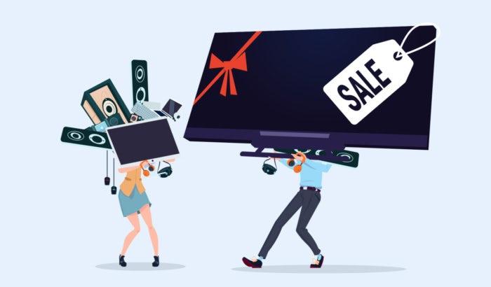 """Рекламные кампании Cyber Monday """"width ="""" 700 """"height ="""" 410 """"/>    <figcaption> Иллюстрация OrangeCrush </figcaption></figure> <p> Каждый год в период между Черной пятницей и Кибер понедельником, потребительские расходы резко возросли. Национальная федерация розничной торговли оценила, что расходы в этом году, как ожидается, достигнут 718 миллиардов долларов! </p> <div class='code-block code-block-2 ai-viewport-1 ai-viewport-2' style='margin: 8px 0; clear: both;'> <div  class="""