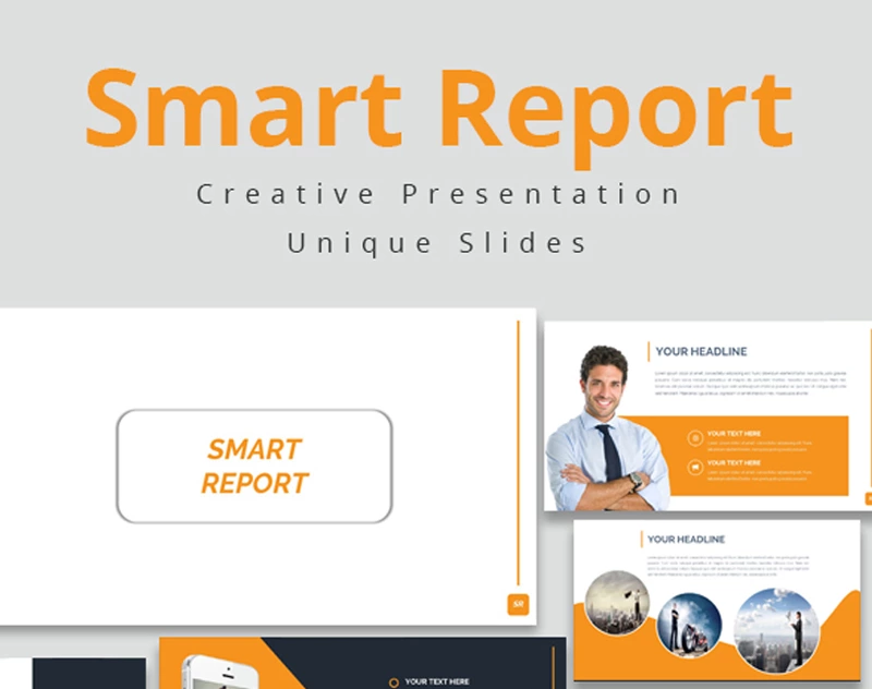 Smart Report — Шаблон Google Slides презентации