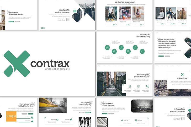 Contrax — Шаблон Google Slides презентации