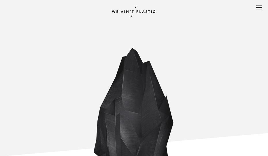 "минимальный веб-сайт We aint Plastic ""width ="" 1343 ""height ="" 782 ""/>    <figcaption> Via We Aint Plastic </figcaption></figure> <p> <span style="