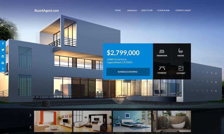 """Минималистский веб-сайт, показывающий современный дом """"width ="""" 1678 """"height ="""" 1000"""