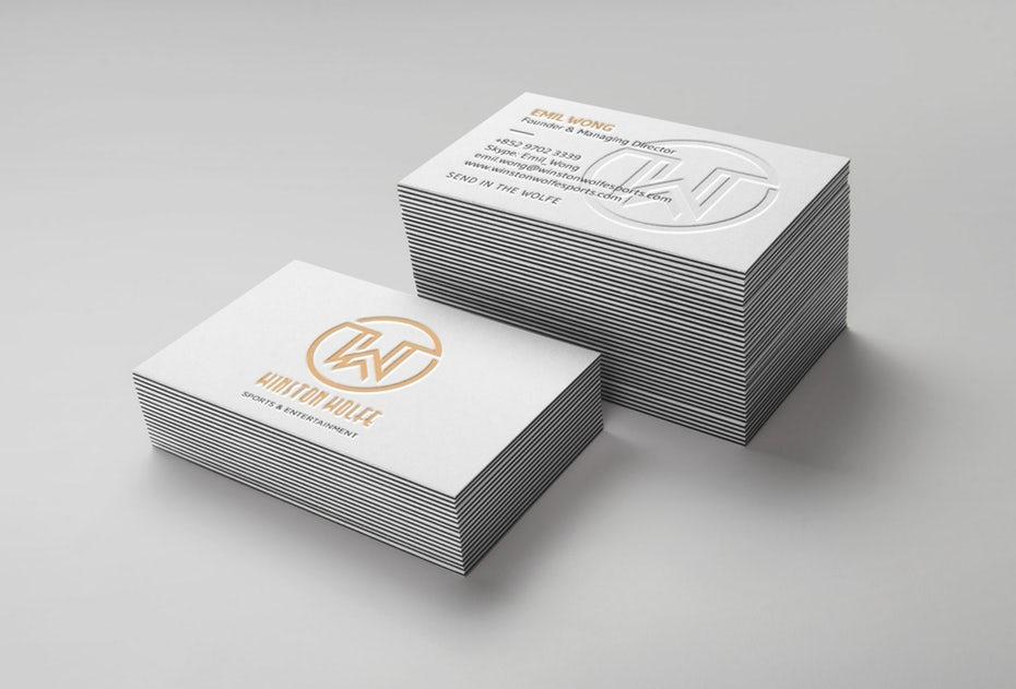 Тенденции визитных карточек 2020 год: визитная карточка Уинстона Вольфа